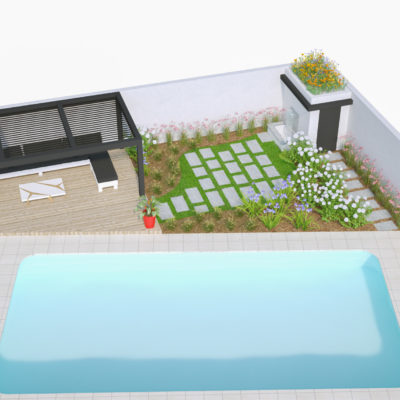 Jardin Anglet piscine pool house