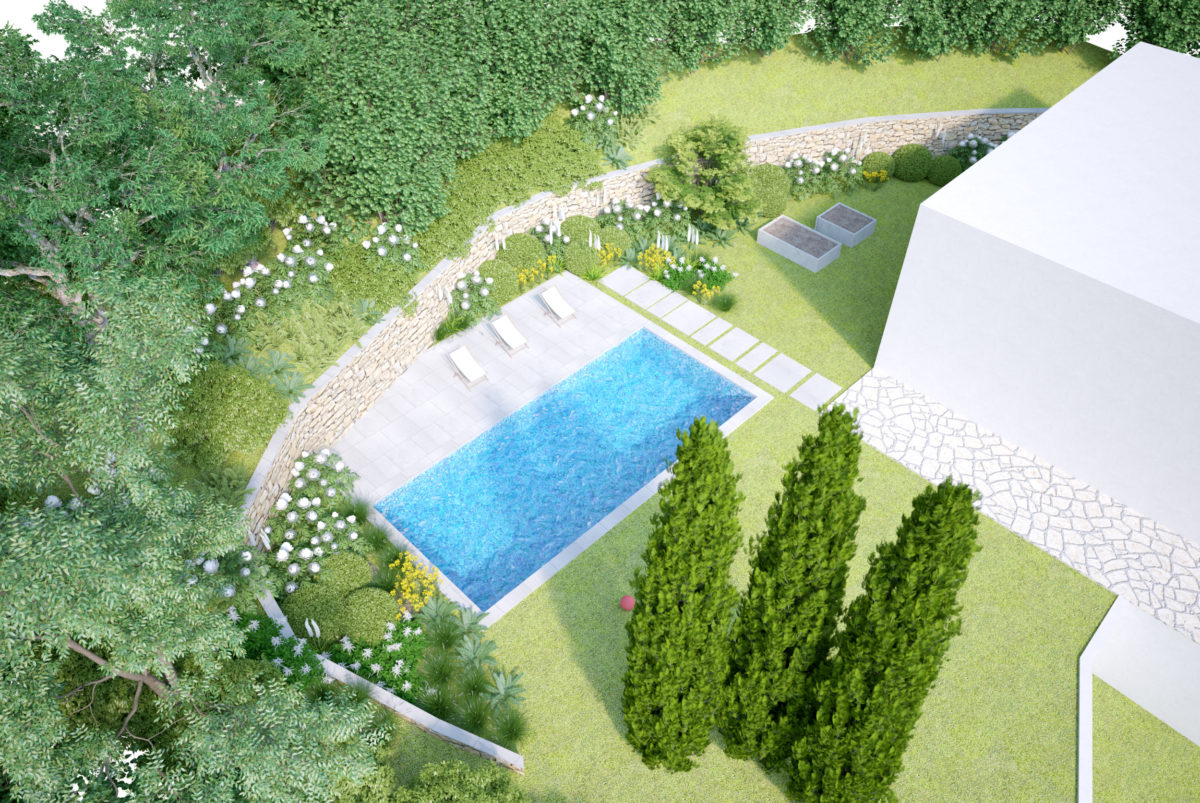 Implantation piscine et cr ation terrasse paysagiste pays for Piscine pays basque